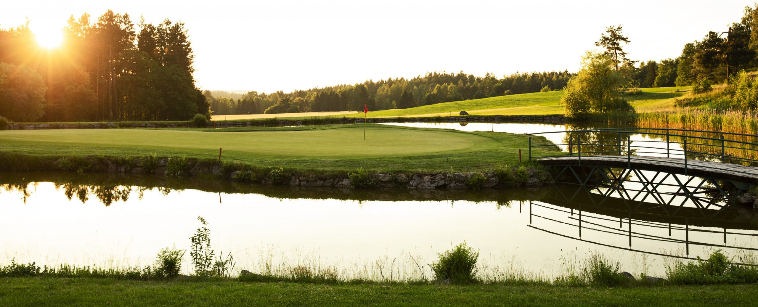 Golfresort Haugschlag - Blick aufs Inselgreen