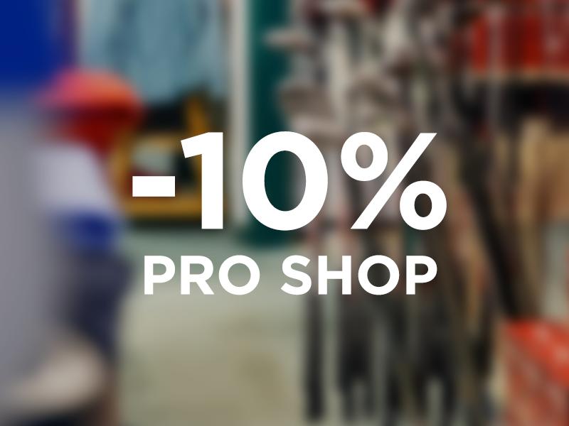 Vergünstigungen im Pro Shop