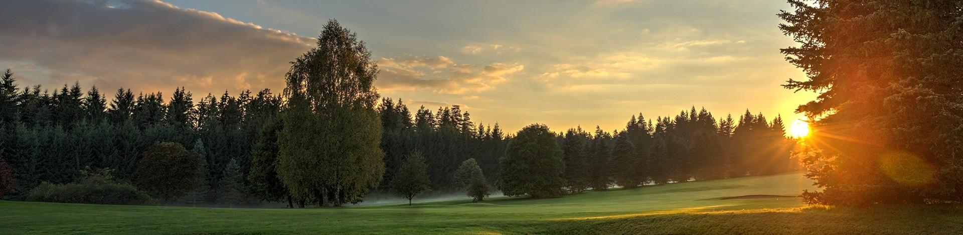 Golfplatz Sonnenuntergang