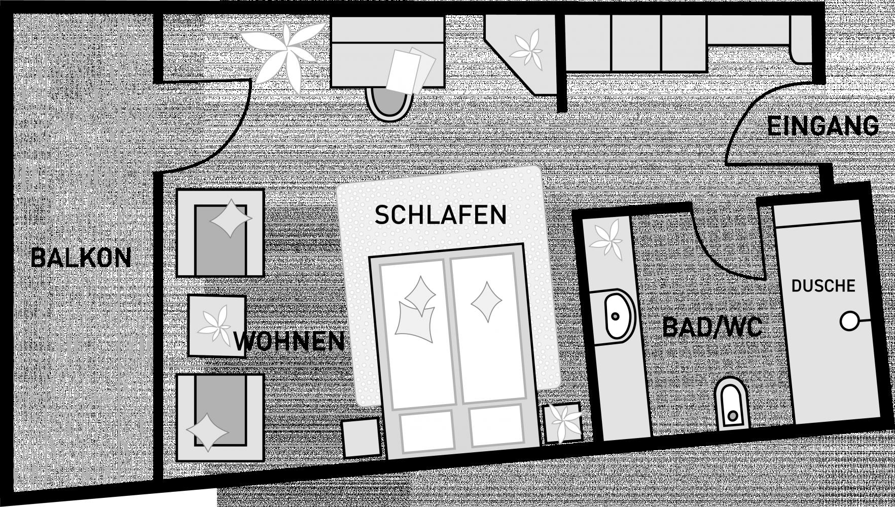 Raumplan Hotelzimmer Superior